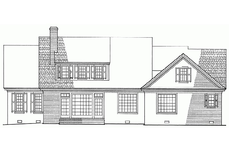 Southern Exterior - Rear Elevation Plan #137-176 - Houseplans.com