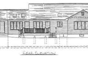 Ranch Style House Plan - 3 Beds 2 Baths 1873 Sq/Ft Plan #75-130 Exterior - Rear Elevation