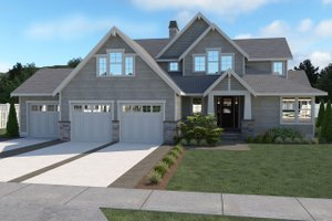 Craftsman Exterior - Front Elevation Plan #1070-59