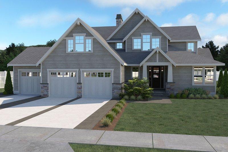 Home Plan - Craftsman Exterior - Front Elevation Plan #1070-59