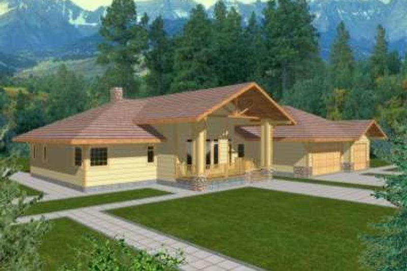 Traditional Exterior - Front Elevation Plan #117-338 - Houseplans.com