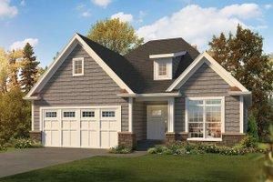 Craftsman Exterior - Front Elevation Plan #57-666