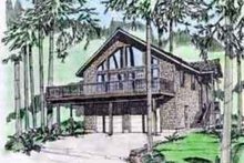 Home Plan - Modern Exterior - Front Elevation Plan #117-195