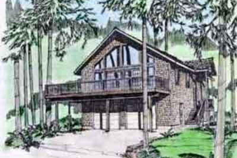 Modern Exterior - Front Elevation Plan #117-195 - Houseplans.com