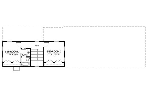 Colonial Floor Plan - Upper Floor Plan Plan #900-6