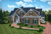 Traditional Style House Plan - 4 Beds 4.5 Baths 3854 Sq/Ft Plan #30-345 Exterior - Front Elevation