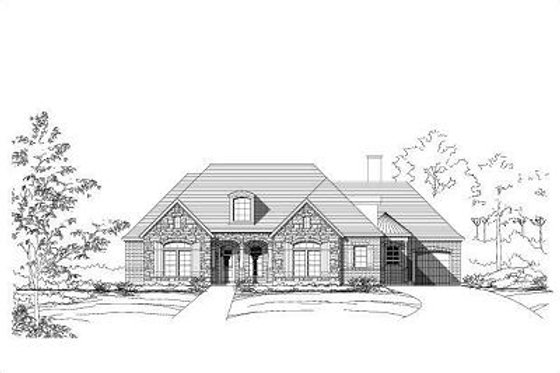 European Exterior - Front Elevation Plan #411-476