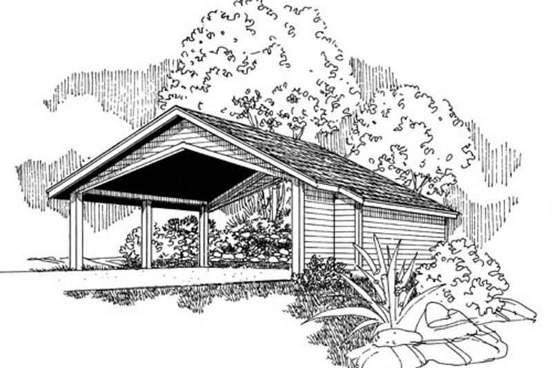 Traditional Exterior - Front Elevation Plan #124-799 - Houseplans.com