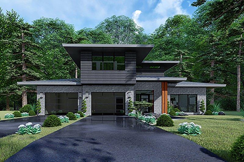 House Plan Design - Contemporary Exterior - Front Elevation Plan #17-3426
