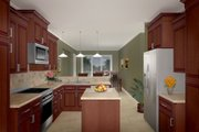 Traditional Style House Plan - 3 Beds 3.5 Baths 2200 Sq/Ft Plan #21-178 Photo