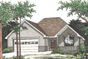 Traditional Style House Plan - 2 Beds 2 Baths 1498 Sq/Ft Plan #20-120 Exterior - Front Elevation