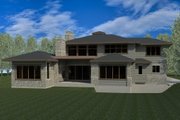 Contemporary Style House Plan - 7 Beds 5.5 Baths 5850 Sq/Ft Plan #920-85 Exterior - Rear Elevation