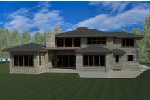 Contemporary Exterior - Rear Elevation Plan #920-85
