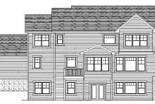Craftsman Exterior - Rear Elevation Plan #51-363