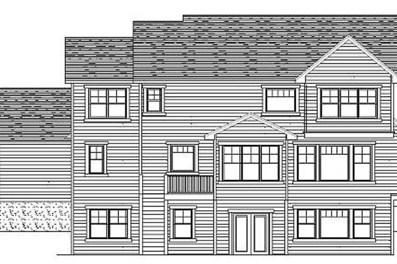 Craftsman Exterior - Rear Elevation Plan #51-363 - Houseplans.com