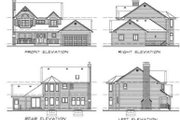 Traditional Style House Plan - 3 Beds 2.5 Baths 1880 Sq/Ft Plan #47-263 Exterior - Rear Elevation