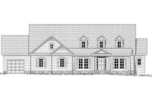 Country Exterior - Rear Elevation Plan #437-40