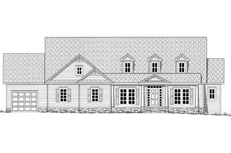 Country Exterior - Rear Elevation Plan #437-40 - Houseplans.com