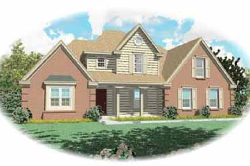 Traditional Style House Plan - 3 Beds 2.5 Baths 2020 Sq/Ft Plan #81-231 Exterior - Front Elevation