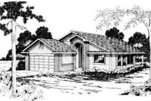 Modern Exterior - Front Elevation Plan #124-166