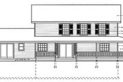 Country Style House Plan - 5 Beds 3.5 Baths 2561 Sq/Ft Plan #93-210 Exterior - Rear Elevation