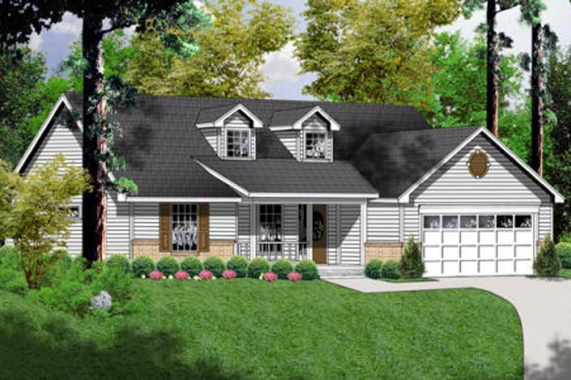 Traditional Exterior - Front Elevation Plan #40-237 - Houseplans.com
