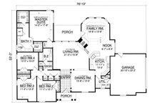 European Floor Plan - Main Floor Plan Plan #40-390