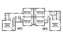 Country Floor Plan - Upper Floor Plan Plan #124-1078
