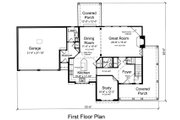 Traditional Style House Plan - 4 Beds 2.5 Baths 2333 Sq/Ft Plan #46-491 Floor Plan - Main Floor Plan