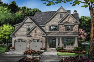 Craftsman Exterior - Front Elevation Plan #929-1031