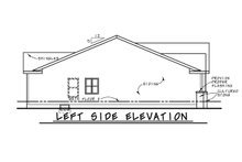 Home Plan - Left Side Elevation