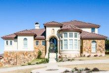 House Plan Design - Mediterranean Exterior - Front Elevation Plan #80-207