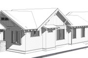Craftsman Style House Plan - 3 Beds 2 Baths 1576 Sq/Ft Plan #895-99 Exterior - Other Elevation