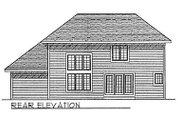 Traditional Style House Plan - 3 Beds 2.5 Baths 2018 Sq/Ft Plan #70-283 Exterior - Rear Elevation