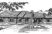 European Style House Plan - 3 Beds 2.5 Baths 2796 Sq/Ft Plan #47-174 Exterior - Front Elevation