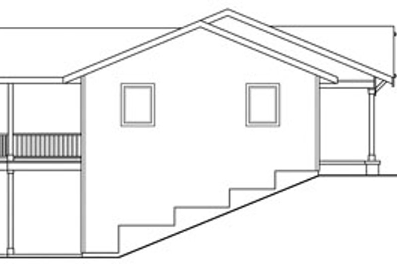 Ranch Exterior - Other Elevation Plan #124-740 - Houseplans.com