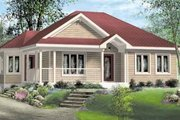 Traditional Style House Plan - 3 Beds 1 Baths 1039 Sq/Ft Plan #25-4127 Exterior - Front Elevation