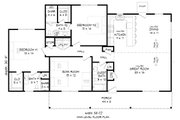 Country Style House Plan - 3 Beds 3 Baths 1642 Sq/Ft Plan #932-370