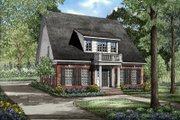 Southern Style House Plan - 3 Beds 2.5 Baths 2618 Sq/Ft Plan #17-203 Exterior - Front Elevation