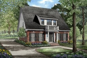 Southern Exterior - Front Elevation Plan #17-203