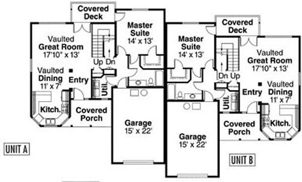 Traditional Floor Plan - Main Floor Plan Plan #124-809