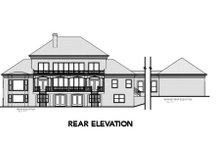 Dream House Plan - Colonial Exterior - Rear Elevation Plan #56-228