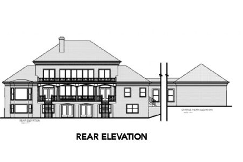 Colonial Exterior - Rear Elevation Plan #56-228 - Houseplans.com
