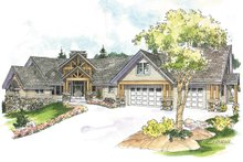Architectural House Design - Craftsman Exterior - Front Elevation Plan #124-1148