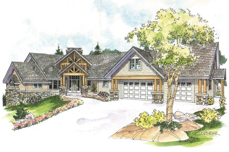 Home Plan - Craftsman Exterior - Front Elevation Plan #124-1148