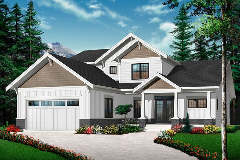 Dream House Plan - Traditional Exterior - Front Elevation Plan #23-2548