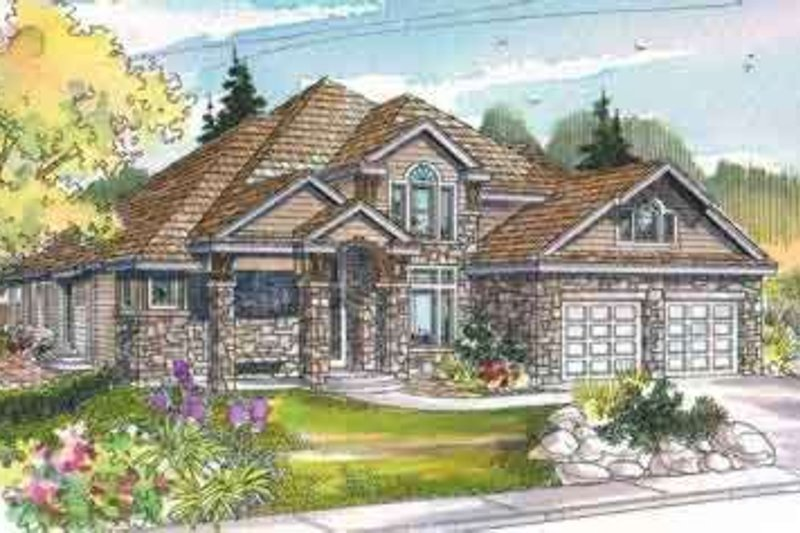Traditional Exterior - Front Elevation Plan #124-486