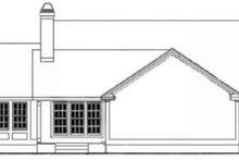 Southern Exterior - Rear Elevation Plan #406-206