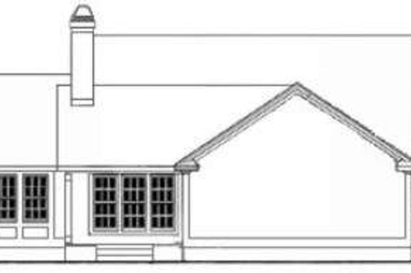 Southern Exterior - Rear Elevation Plan #406-206 - Houseplans.com