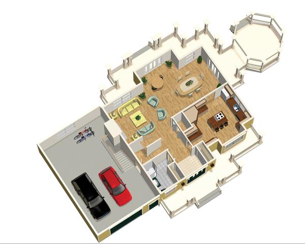 Country Floor Plan - Main Floor Plan Plan #25-4686